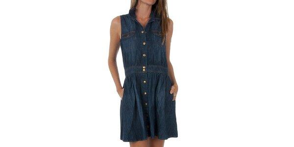 Dámské tmavě modré džínové šaty Tommy Hilfiger