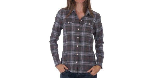 Dámská tmavě šedá kostkovaná košile Tommy Hilfiger