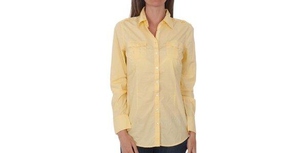 Dámská vanilkově žlutá košile Tommy Hilfiger