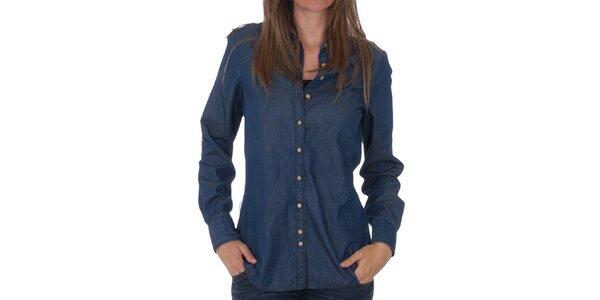 Dámská tmavě modrá džínová košile Tommy Hilfiger