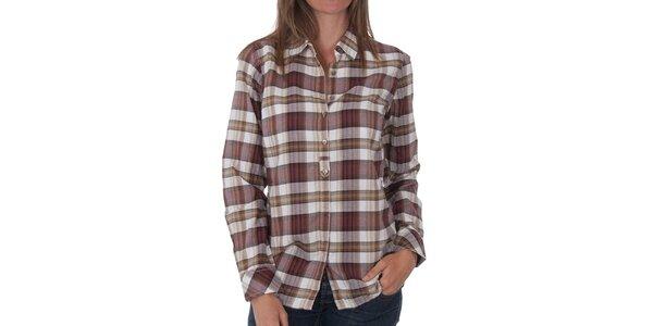 Dámská hnědá kostkovaná košile Tommy Hilfiger
