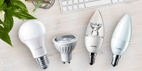 LED žárovky Philips pro patice E27, E14 i GU10