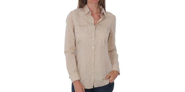 Dámská béžová košile Tommy Hilfiger