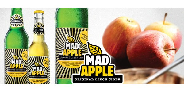 20 lahví Cider Mad Apple 500 ml!