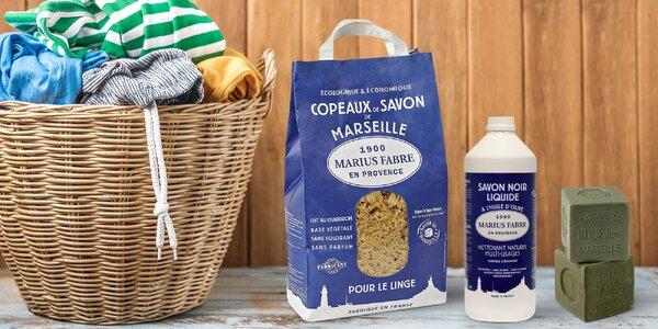 Marseillské a olivové mýdlo na praní i úklid