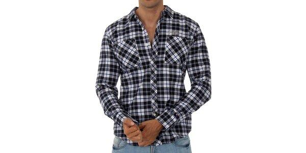Pánská černobílá kostkovaná košile Tommy Hilfiger