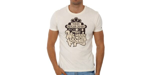 Pánské bílé tričko Tommy Hilfiger s potiskem