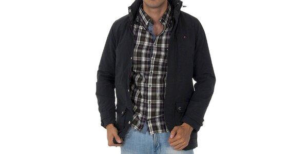 Pánská černá bunda Tommy Hilfiger