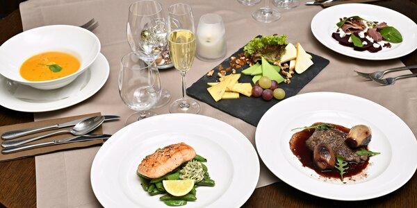 4chodové menu pro 2 v restauraci Altány Kampa