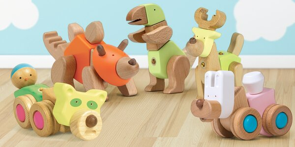 Multifunkční dřevěné hračky EQB pro kluky i holky