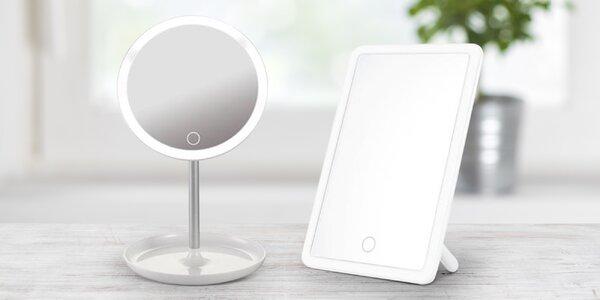 Kosmetická zrcátka s LED osvětlením: 2 typy