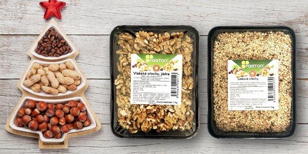 Vlašské nebo lískové ořechy: mleté, kousky či drť