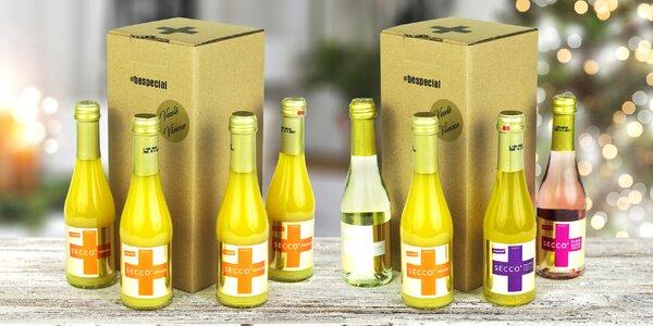 Prémiová perlivá vína SECCO+ v dárkovém balení