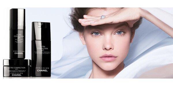 Luxusní ošetření pleti kosmetikou Chanel a úprava obočí, řas