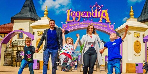 Celosezónní permanentky do zábavního parku Legendia