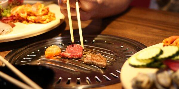 Dejte si korejské BBQ: mořské plody, maso, příloha