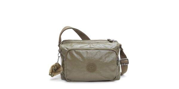 Zlatavá kabelka s opičkou Kipling