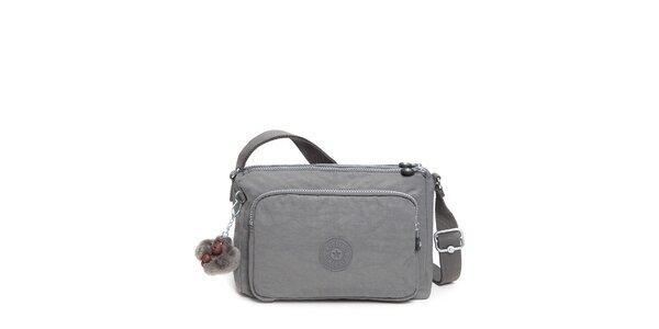 Šedivá kabelka s opičkou Kipling