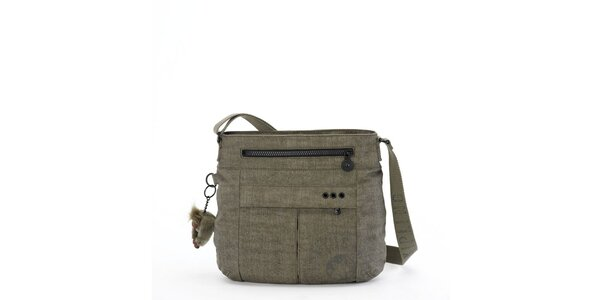 Šedo-zelená kabelka přes rameno Kipling 925a7860485