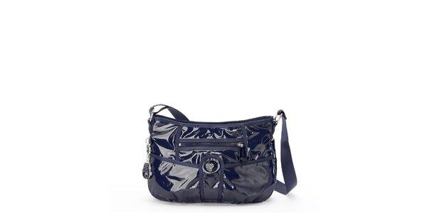 Lakovaná modrá kabelka Kipling