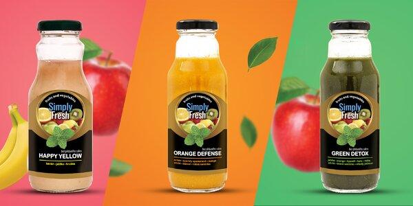 Zdravé posilnění: 6 ks 100% přírodních smoothie