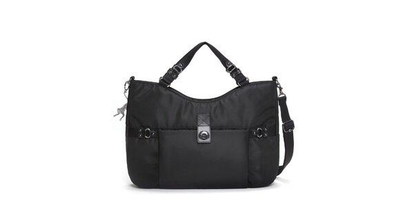 Dámská černá nylonová kabelka Kipling