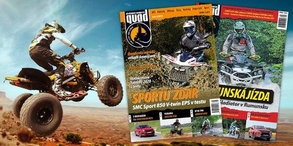 Časopis o čtyřkolkách QUAD: roční předplatné