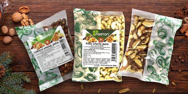 Zdravé křupání: vlašské, pekanové i kešu ořechy