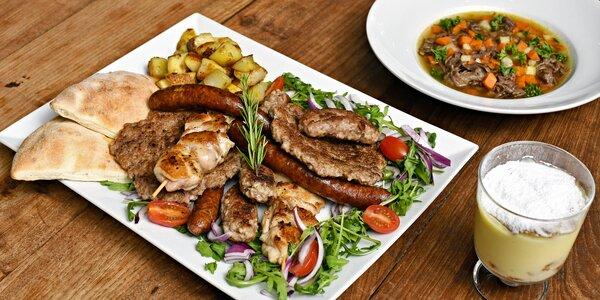 Balkánský mix grilovaných dobrot pro 2 či 4 osoby