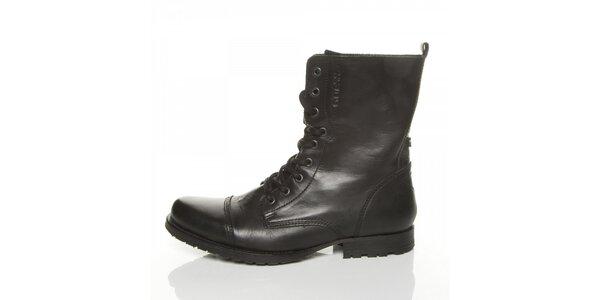 Pánské černé kotníčkové boty Guess