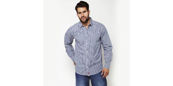 Pánská modro-bílá kostkovaná košile Dickies