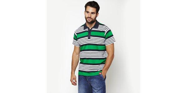 Pánské zeleně pruhované polo tričko Dickies