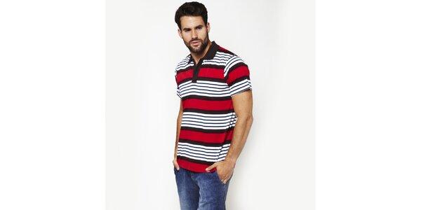 Pánské červeně pruhované polo tričko Dickies