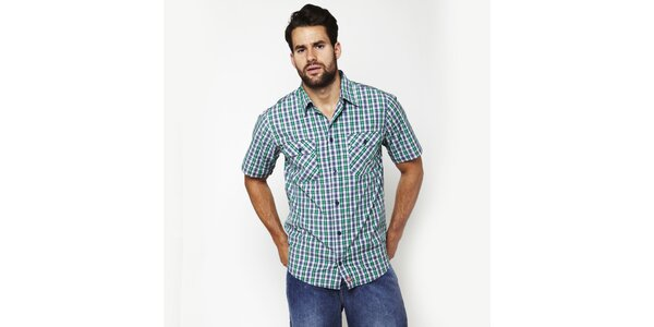 Pánská modro-zelená kostkovaná košile Dickies