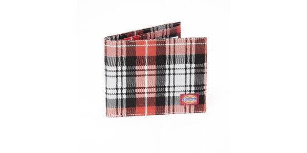 Pánská černo-červená kostkovaná peněženka Dickies