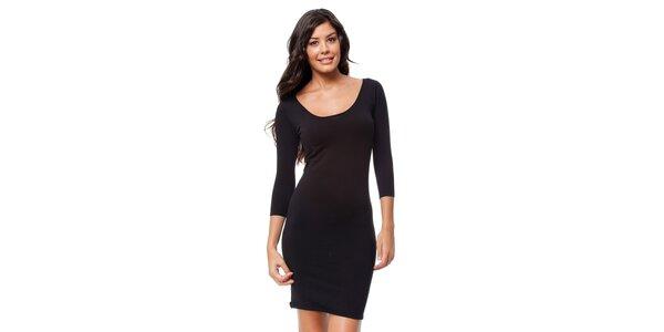 Dámské černé úpletové šaty Guess