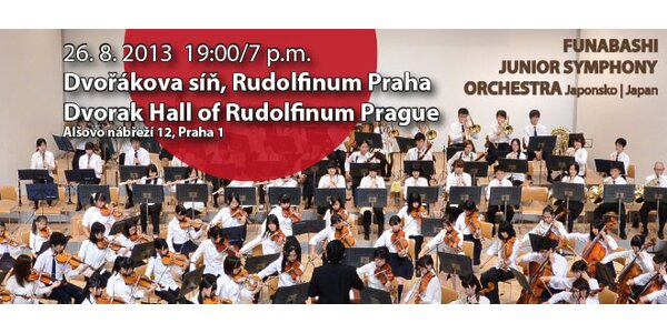 Koncert Funabashi Junior Symphony Orchestra v Rudolfinu