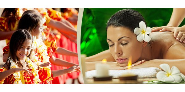 Exlusivní havajská masáž bio kokosovým olejem nebo havajská medová masáž
