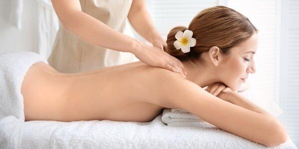 Hodinová relaxace: výběr ze 3 druhů masáží