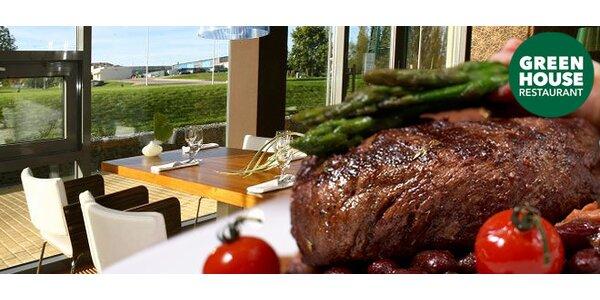 Grilovaný telecí steak a domácí dezerty pro dva