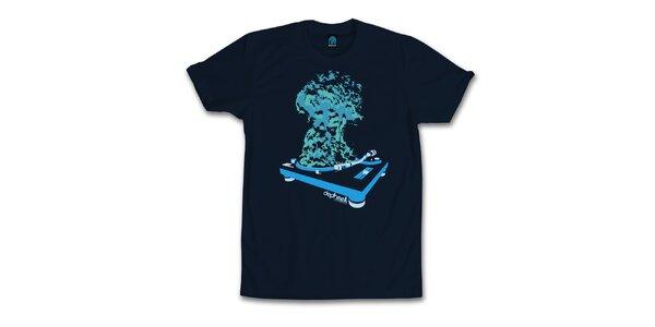 Pánské tmavě modré tričko s explozivními beaty Dephect