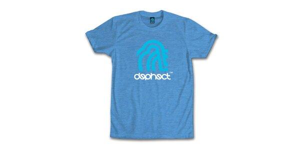 Pánské vodově modré tričko s potiskem Dephect
