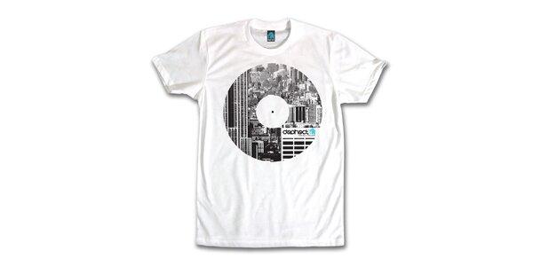 Pánské bílé tričko s potiskem vinylu Dephect