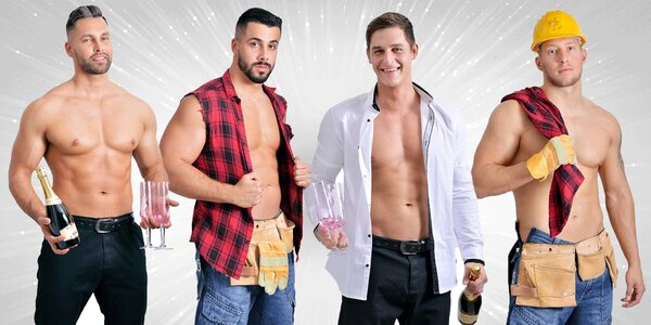 Valentýnská show: pánský striptýz i welcome drink