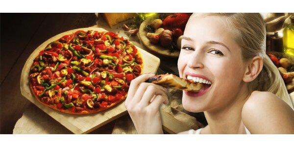 DVĚ velké křupavé pizzy dle vlastního výběru