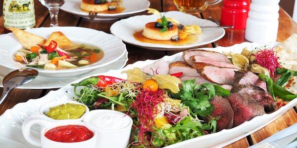 Mexické menu pro dva: 3 druhy masa, salát i salsy