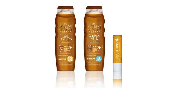 SUN Active spf 15+mléko po opal.+pomáda