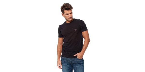 Pánské černé tričko Guess