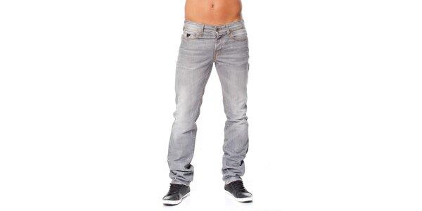 Pánské světle šedé džíny Guess