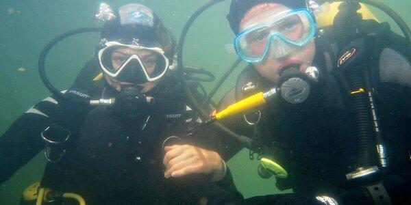 5denní kurz potápění OWD + P1 v lomu Srní u Hlinska